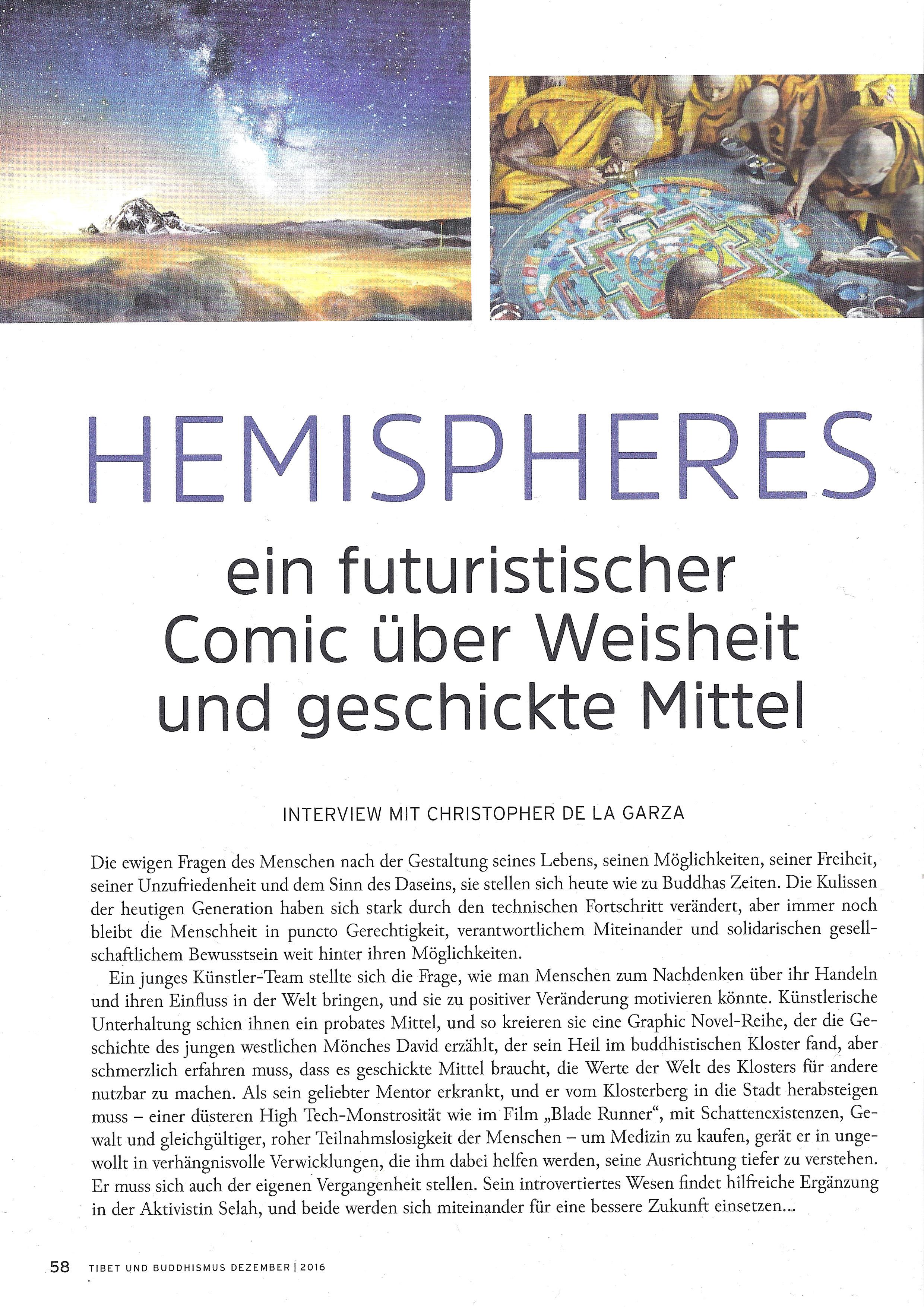 Hemispheres World Tibet und Buddhismus Magazin Dezember 2016 Seite 1
