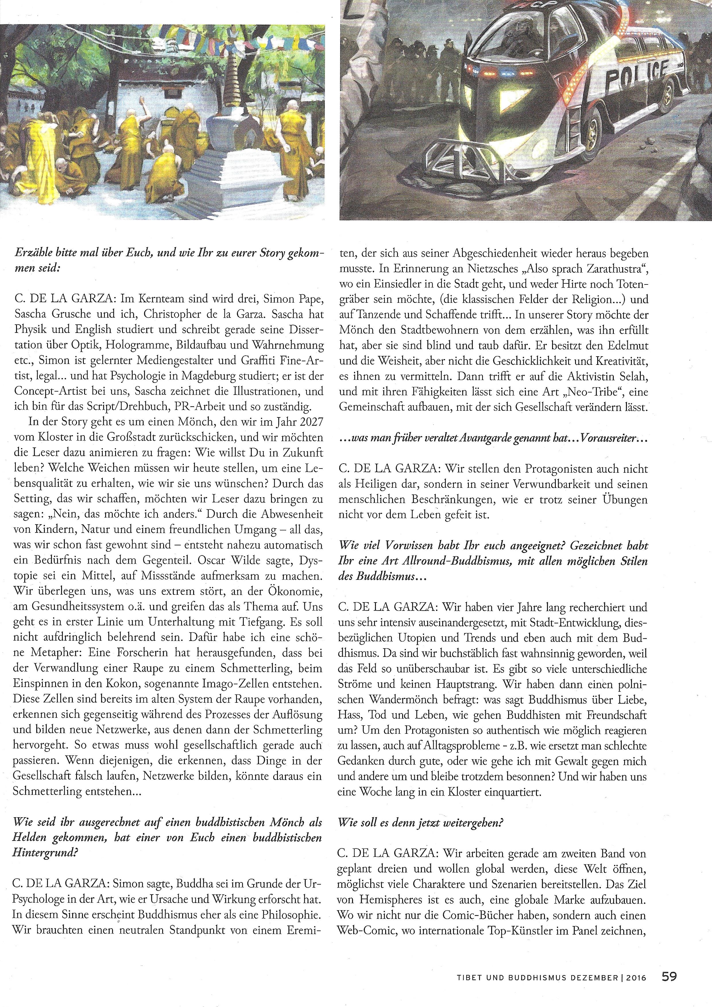 Hemispheres World Tibet und Buddhismus Magazin Dezember 2016 Seite 2